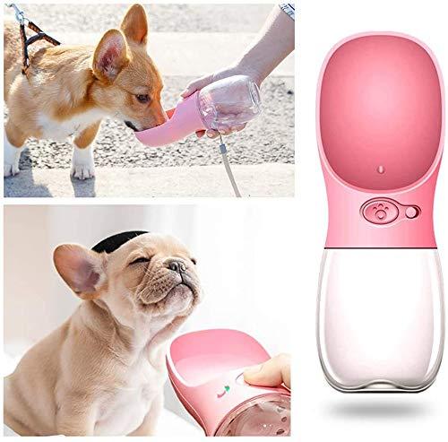 HELOU Botella de Agua para Beber Profesional para Perros y Mascotas Botella de Agua Deportiva de Viaje - Dispensador de Agua portátil a Prueba de Fugas de Grado alimenticio Botella