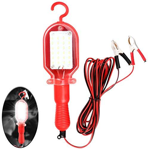 VXCAN Luz LED de Trabajo portátil de 20 W con Abrazadera de batería iluminación súper Brillante Manos Libres para Taller de reparación de Auto de 12 V/24 V