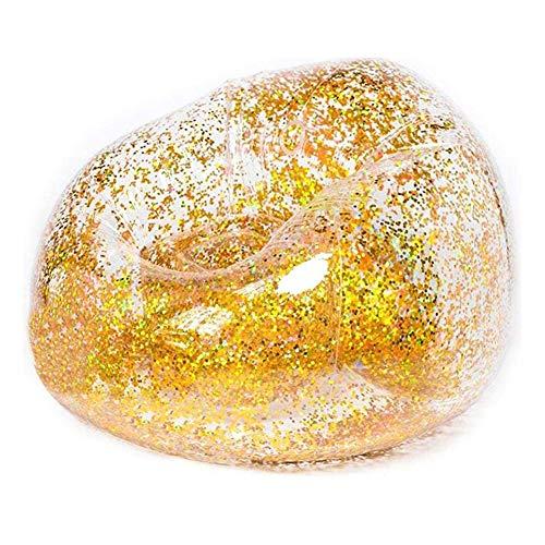 Sofa Zitbubbel Opblaasbare Transparante Shaped, Bank Poef Poef Opblaasbare Zak Opblaasbare Klapstoel Uit Volwassen Van Stoel House,Gold