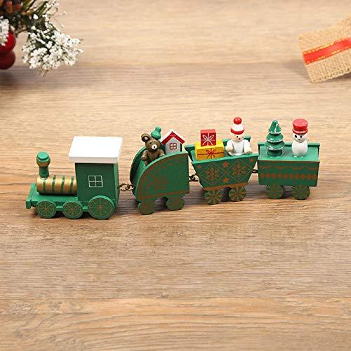 Decoración De Tren De Navidad Lindo Mini Tren de Madera Regalo para Niños Adornos Navideños para la Decoración del Hogar del Jardín de Infantes del Partido (#7)