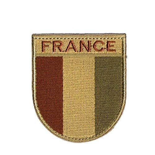 Francia Bandera Escudo Bordado del Hierro-en Brazalete Hombro Apliques Pegatinas Insignia En La Moral del Ejército Ropa De Parches De Color Caqui