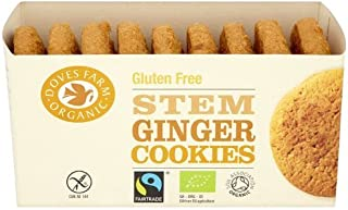 Doves Farm Fairtrade Gluten Free Stem Ginger Cookies (150g) - Pack of 6