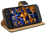 mumbi Echt Leder Bookstyle Case kompatibel mit iPhone 7 / 8 Hülle Leder Tasche Case Wallet, schwarz
