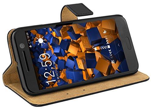 mumbi Echt Leder Bookstyle Hülle kompatibel mit iPhone 7 / 8 Hülle Leder Tasche Hülle Wallet, schwarz
