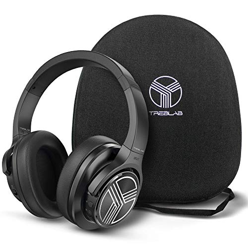 TREBLAB Z2 | Over Ear Workout Headphones with Microphone | Bluetooth 5.0, Active Noise Cancelling (ANC) | Up to 35H Battery Life | Wireless Headphones for Sport, Workout, Running, Gym (Black)