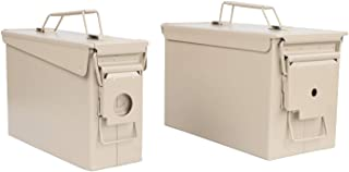 Redneck Convent RC Tan Waterproof Ammo Box Military and Army Metal Storage Box - Large Ammo Storage Container with Flip Top