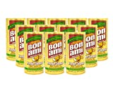 Bon Ami Powder Cleanser for Kitchens & Bathrooms - All Types of Surfaces, Cleans Grime & Dirt, Polishes Surfaces, Absorbs Odors (12 Pack)