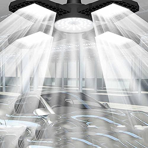 IluminacióN De Garaje, Luces De Garaje Led, Luces De Garaje De Los Paneles Ajustables, IluminacióN De Garaje Deformable, Garaje Deformable Luz De Techo, 4 Paneles Ajustables Luces De Garaje