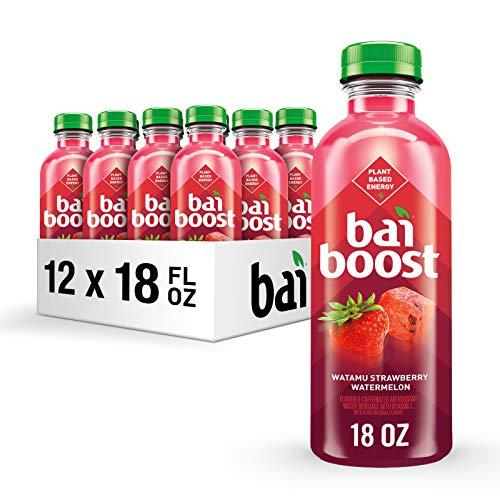 Bai Boost Watamu Strawberry Watermelon, Antioxidant Infused Beverage, 18 fl oz bottle (Pack of 1)