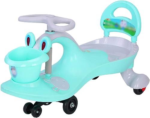 LiRuShop Bobbycars & Rutscher Schaukel Auto Twist Auto Kinder Auto Twisted Auto Kind Kind Anti-Roll-Rocker Wiegen Weißiche Baby m lich 1-3-6 Jahre alt Universal-Rad-Schaukel, kann 110 kg Tragen