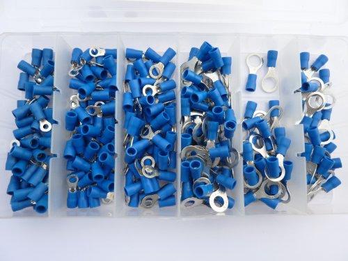 SK-DV 250 Ring Kabelschuhe/Ringoese M3 - M8 - Sortiment Nr. 2 - blau für Kabel von 1,5 mm² - 2,5 mm