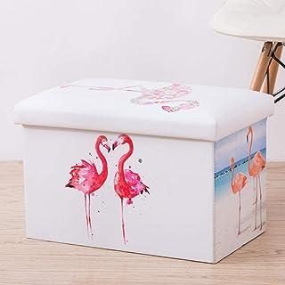 MJY Paniers à linge, Flamingo Love Affection avec couvercle Paniers à linge avec poignée Grande capacité repliable Facile ...