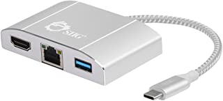Siig Multi-Task External Video Adapter, Gray/White (JU-H30512-S1) Silver Silver 3-in-1