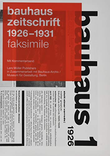 bauhaus zeitschrift 1926 - 1931: Faksimile Ausgabe