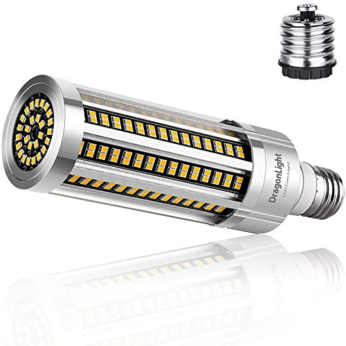 DragonLight 54W Super Bright Corn LED Light Bulb Fanless (400 Watt Equivalent) - 3000K Warm White 6,500 Lumens - E26 E39 Mogul Base LED Lamp for Residential and Commercial Ceiling Lighting
