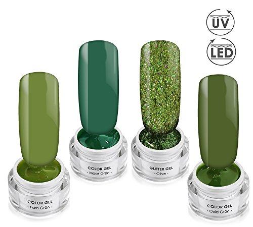 ENCHANTED WOODS Gel Collection SET - Color- & Effektgel - UV/LED Gel SET - 4x 5ml