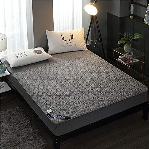 YFGY Funda de colchón,Funda de colchón Acolchada Impermeable, Protector de sábana Ajustable para Dormitorio de Ancianos y niños Gris Doble 100 * 200 cm