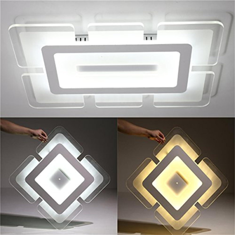 DADEQISH 28 Watt 42  42 cm Acryl Squarer Moderne Deckenleuchte Montiert Leuchte für Wohnzimmer Dekor AC220V Innenlicht (Farbe   Light Three-dimming) B07MYLCY2K   Elegant