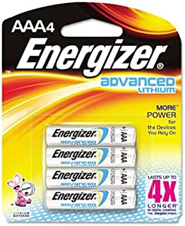 Energizer Advanced Lithium Batteries AAA (Per 4)