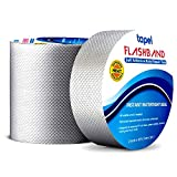 Tapel Butyl Waterproof Tape - 2' X 16' - Leak Proof Long Lasting Watertight Rubber Putty Butyl Tape for RV Repair, Window, Silicone, and Boat Sealing, Glass & EDPM Rubber Roof Patching