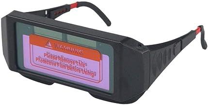 Almencla Auto Escurecimento Soldador Solda Safe Eyes Óculos Óculos Antirreflexo UV - Azul, Tamanho real