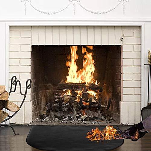 Juhuitong Feuerfester Teppich für Kamin, Brandschutzmatte Hitzebeständiger Funke für Feuerstelle, Grill, Gas, Grill, Deck, Terrasse, Hinterhof, Boden 50 × 100 cm