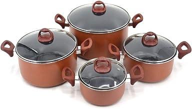 Trust non stick Cookware Set 8 Pcs (18,22,26,30 CM),Brwon, KR20GL4