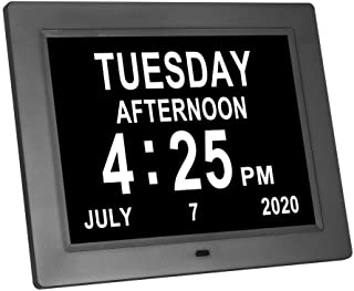 LaMi Products 2021 New Version 8 Inch,Digital Calendar Day Alarm Clock -8 Alarm Reminders,AM/PM Function,Alarm Clock with ...
