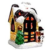Bireegoo Escena de Navidad Casa de Navidad Escena de la aldea de nieve con...
