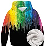 Sweatshirt For Boys Girls Hoodie Realistic Funny 3D Spray Paint Printed Fleece Pullover Kids Hooded Top Blouse With Pocket For Holiday Party