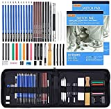 Product Image of the Drawing Kit, Shuttle Art 52 Pack Drawing Pencils Set, Professional Drawing Art...