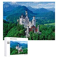 白亜紀の城ノイシュヴァンシュタイン城 500ピースのパズル木製パズル大人の贈り物子供の誕生日プレゼント1000ピースのパズル