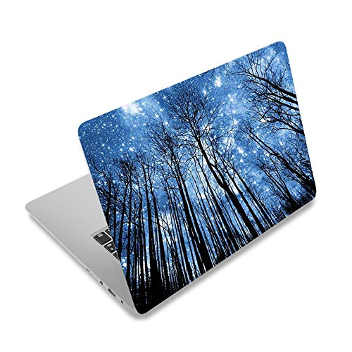 """Laptop Skin Sticker Decal,12"""" 13"""" 13.3"""" 14"""" 15"""" 15.4"""" 15.6 inch Laptop Vinyl Skin Sticker Cover Art Protector Notebook PC (Free 2 Wrist Pad Included), Decorative Waterproof Removable,Galaxy Forest"""