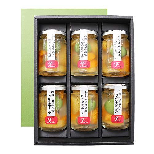 ふみこ農園ギフトお菓子スイーツ洋菓子ギフトわかやまポンチ6個入みかん果物フルーツゼリー和歌山県産賞味期限製造日より180日間(通常)