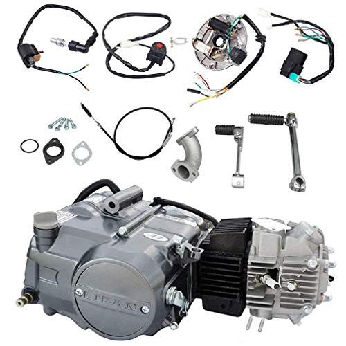 ZXTDR Lifan 125cc Engine Motor & Wire Harness Wiring Kit for XR50 CRF50 XR CRF 50 70 ATC70 110 ATC70 Z50 CT70 CL70 SL70 XL ST70 Dirt Pit Bike Kawasaki Motorcycle
