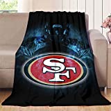 Elliot Dorothy San Francisco 49ers28 - Manta para sofá o sofá (franela suave, manta de forro polar, cálida y ligera, microfibra, 127 x 152 cm)