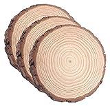 Virutas de madera natural sin acabar, 3 piezas de 28 a 29 cm, utilizadas para manualidades y virutas de madera para el hogar antiguo.