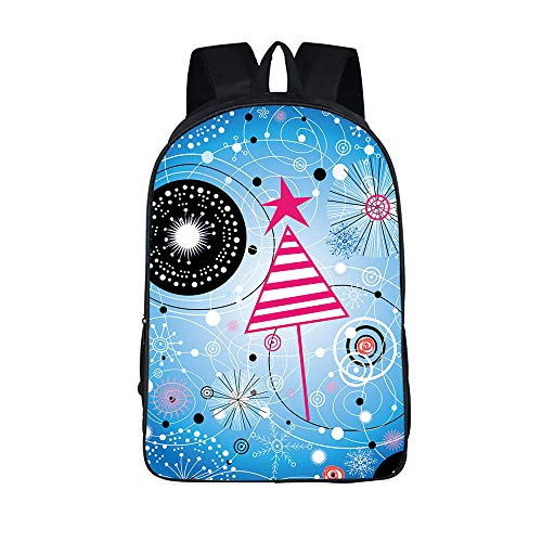 College Bag School Backpack Casual Rucksack Waterproof Travel Fits Up to 15 Inch Laptop Daypacks with USB Unisex(Pattern)