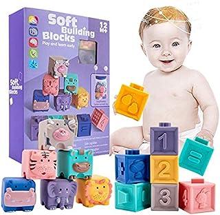 6个 发音玩具 婴儿 洗澡玩具 婴儿用球 柔软 动物 拼图 发型 蜂蜜 形状组合 早期开发 益智玩具 新生儿 玩具 积木块 圣诞节 生日礼物 出生贺礼 礼物 点击 12个(动物・数字)进行