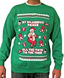 My Milkshake Brings All The Toys to The Yard - Ugly Christmas Sweater (Green, Small)