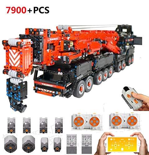 TETAKE Technik Liebherr LTM 11200 V2 Kran Bausteine Bausatz, Technic Kran Bauset mit Fernbedienung und APP Bluetooth-Steuerung, 7900-Teil große MOC Set Kompatibel mit Lego Technic