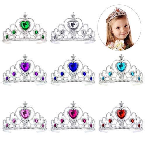 QIMEI-SHOP Diadème Princesse 8 Pièces Princesse Couronne Set pour Filles Anniversaire Party Habiller Accessoires