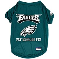 Pets First NFL Philadelphia EAGELS Raglan Jersey Fly Eagles Fly - X-Large. Cutest Football Jersey for Dogs & Cats
