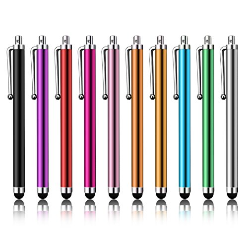 LIBERRWAY Stylus Pen 10 Pack of Pink Purple Black Green Silver Stylus Universal Touch Screen Capacitive Stylus for Kindle Touch ipad iPhone 6/6s 6Plus 6s Plus Samsung S5 S6 S7 Edge S8 Plus Note