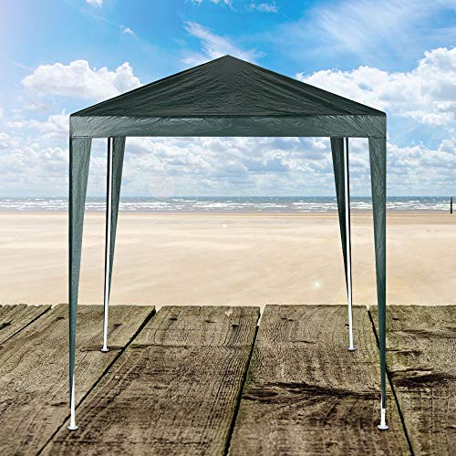 PopHMN Outdoor Gazebo Capri Canopy Shelter Party Tent,Waterproof Garden Marquee Canopy,Premium Anti-UV Heavy Duty Marquee Sun Shade Powder Coated Steel Frame