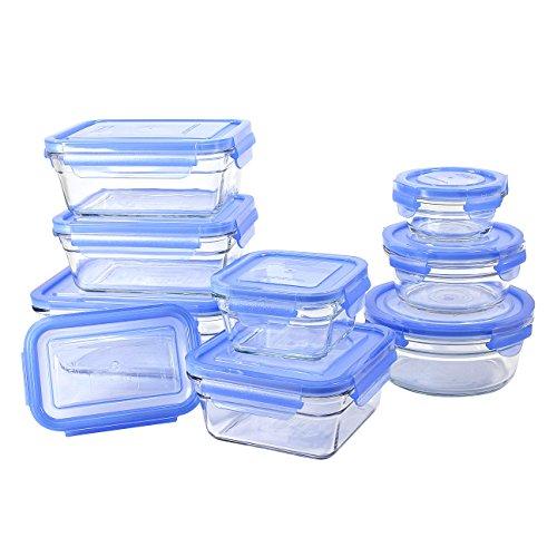 GlassLock 18 Piece Oven Safe Assortment Set, Blue