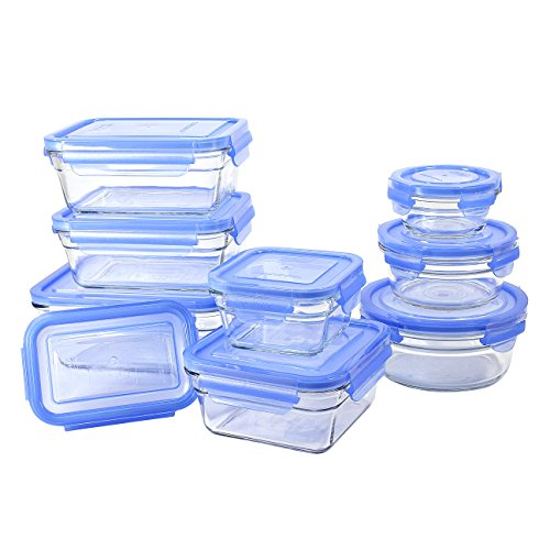 Buy Bargain GlassLock 11434 18 Piece Oven Safe Assortment Set, Blue