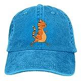 Lsjuee Cat Warrior Gorras de béisbol Ajustables Sombreros de Mezclilla Sombrero de Vaquero Gorra par...
