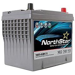 NSB-AGM35 Thin Plate AGM Battery 880CA, 740 CCA, 115RC, 60AH
