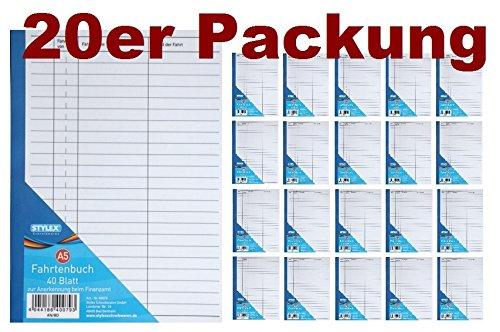 f/ür PKW, A5, Recycling, 32 Blatt AVERY Zweckform 1222 Fahrtenbuch 2er Pack wei/ß, PKW   DIN A5